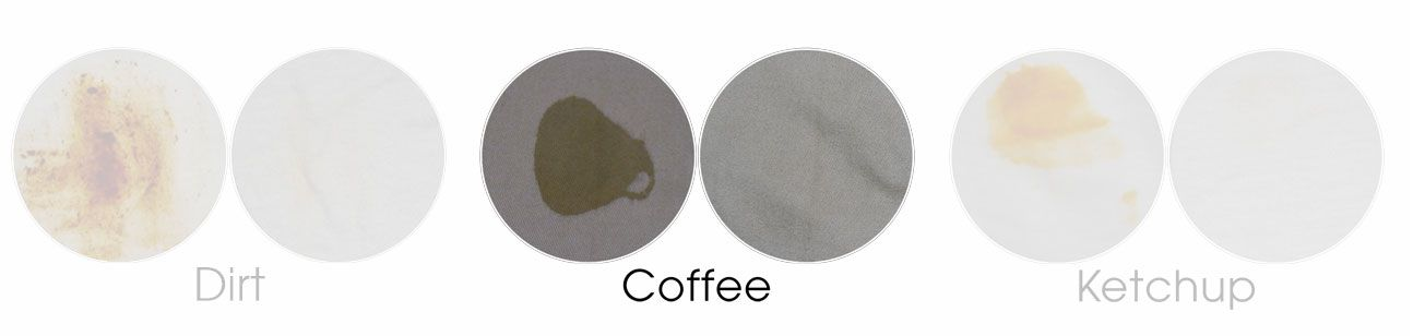 coffee on khaki before and after