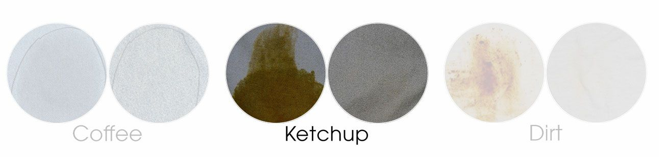 ketchup on khaki before and after
