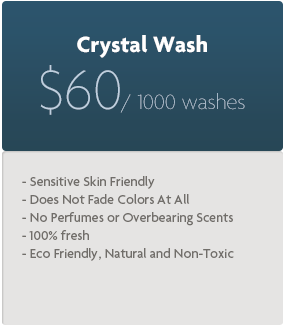 cost per 1000 washes with crystal wash